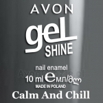 Żelowy lakier do paznokci Calm And Chill Avon geL SHINE