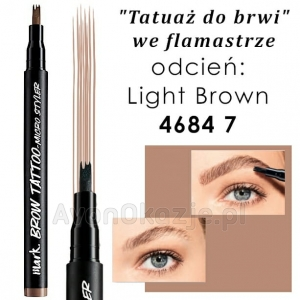 Tatuaż do Brwi we flamastrze LIGHT BROWN Avon