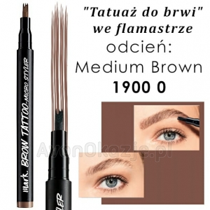 Tatuaż do Brwi we flamastrze MEDIUM BROWN Avon