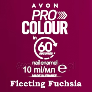 Lakier do paznokci Pro Colour 60 seconds FLEETING FUCHSIA (10 ml) Avon