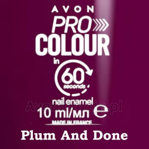 Lakier do paznokci Pro Colour 60 seconds PLUM AND DONE (10 ml) Avon