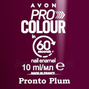 Lakier do paznokci Pro Colour 60 seconds PRONTO PLUM (10 ml) Avon