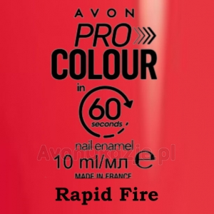 Lakier do paznokci Pro Colour 60 seconds RAPID FIRE (10 ml) Avon