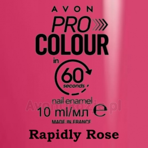 Lakier do paznokci Pro Colour 60 seconds RAPIDLY ROSE (10 ml) Avon