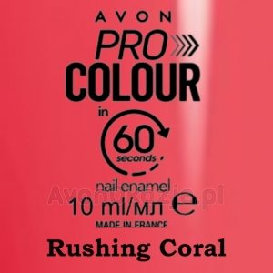 Lakier do paznokci Pro Colour 60 seconds RUSHING CORAL (10 ml) Avon