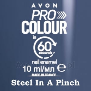 Lakier do paznokci Pro Colour 60 seconds STEEL IN A PINCH (10 ml) Avon