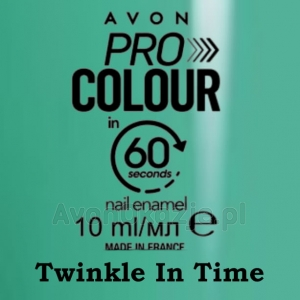 Lakier do paznokci Pro Colour 60 seconds TWINKLE IN TIME (10 ml) Avon