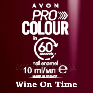 Lakier do paznokci Pro Colour 60 seconds WINE ON TIME (10 ml) Avon
