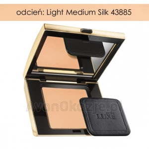 Puder Prasowany LIGHT MEDIUM SILK Avon Luxe