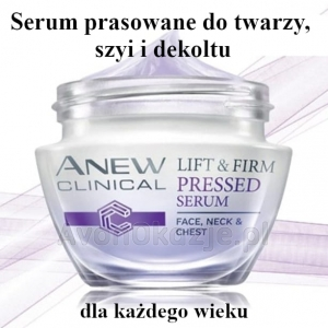 Serum prasowane do twarzy szyi i dekoltu Avon Anew Clinical