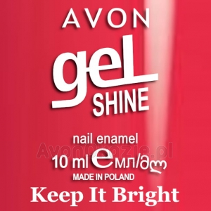 Żelowy lakier do paznokci Keep It Bright Avon geL SHINE
