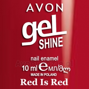 Żelowy lakier do paznokci Red Is Red Avon geL SHINE
