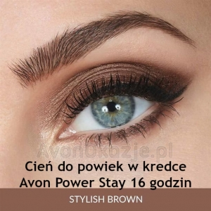 Cień do Powiek w Kredce 16 godzin STYLISH BROWN Avon Power Stay