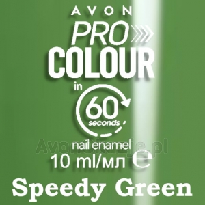 SZYBKOSCHNĄCY Lakier do paznokci SPEEDY GREEN Avon Pro Colour in 60 seconds
