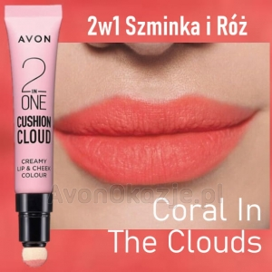 2w1 Szminka i Róż CORAL IN THE CLOUDS Avon True