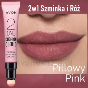 2w1 Szminka i Róż PILLOWY PINK Avon True