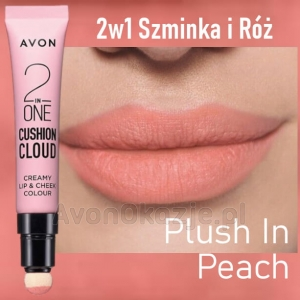 2w1 Szminka i Róż PLUSH IN PEACH Avon True