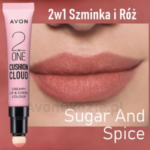2w1 Szminka i Róż SUGAR AND SPICE Avon True