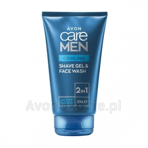 Żel do golenia i mycia twarzy 2w1 z mentolem (150 ml) Avon Care Men Cooling