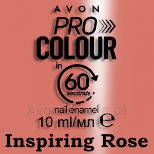SZYBKOSCHNĄCY Lakier do paznokci INSPIRING ROSE Avon Pro Colour in 60 seconds
