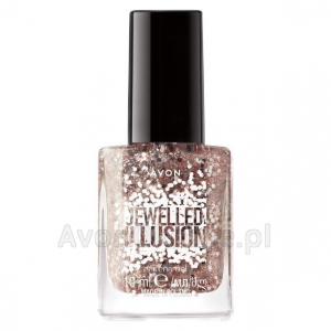 Lakier do paznokci efekt brokatu SOPHISTICATED ROSE GOLD Avon Jewelled Illusion