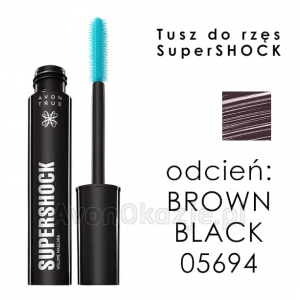 Tusz do Rzęs SuperShock BROWN BLACK Avon