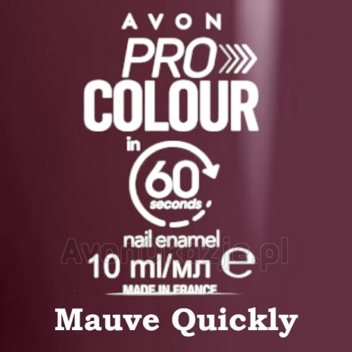 Lakier do paznokci Pro Colour 60 seconds MAUVE QUICKLY - Avon