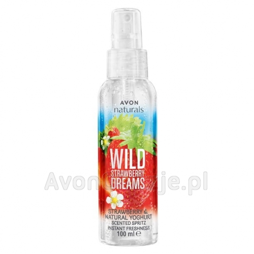 Mgiełka do Ciała Truskawka i Jogurt Avon Naturals WILD STRAWBERRY DREAMS
