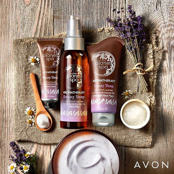 Aromaterapia z lawendą i rumiankiem Avon Planet Spa Aromatherapy Beauty Sleep