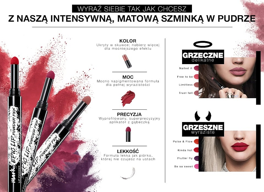 Szminka w Pudrze Avon mark Epic Lip Powder Pen