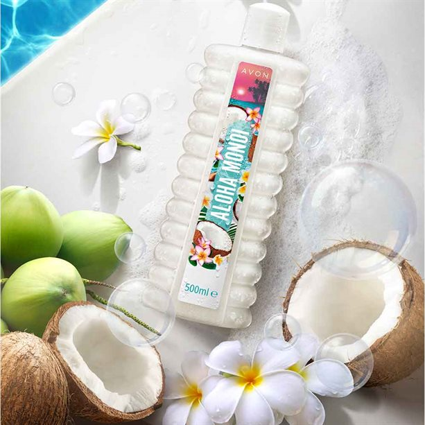 Aloha Monoi Kokos i Kwiat Tahiti Avon Bubble Bath Coconut and Tiare Flower